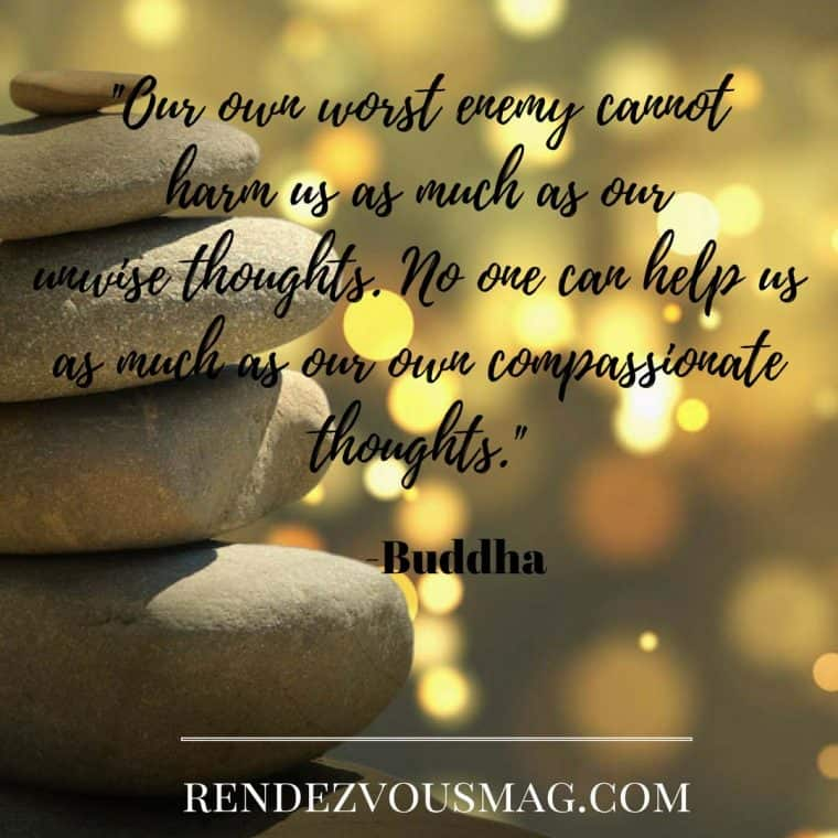 Mindfulness with Buddha quote