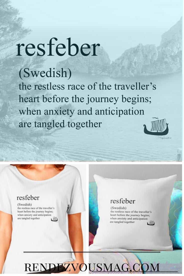 resfeber tees & Pillows