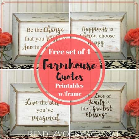 farmhouse decor Quotes free prints
