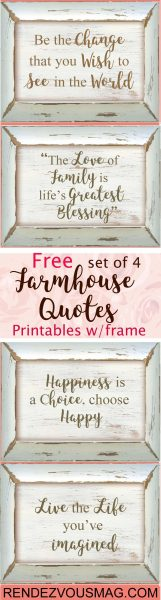 farmhouse decor quotes free printables
