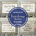 set of 4 free farmhouse prints