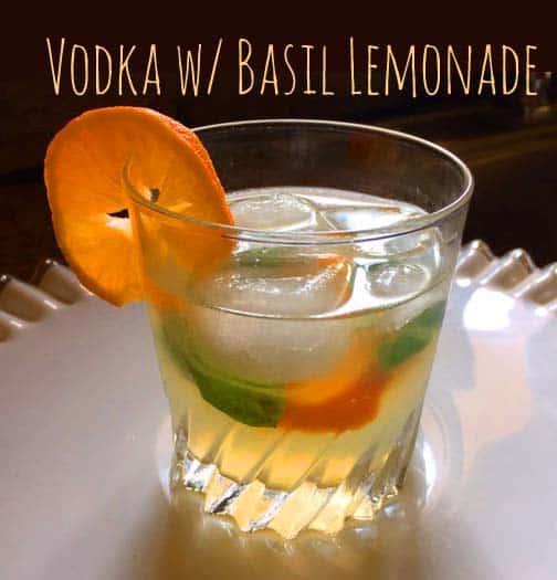 Cocktail vodka basil Lemonade