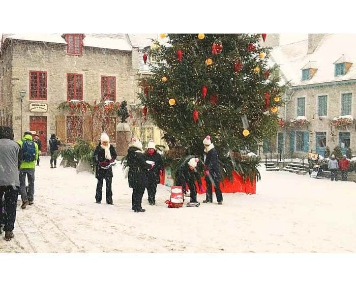 Christmas Old Quebec photo