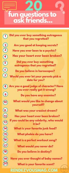 20 fun questions to ask friends infographic