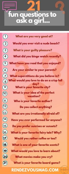 21 fun questions to ask a girl infographic