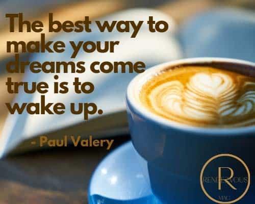 good morning message paul valery