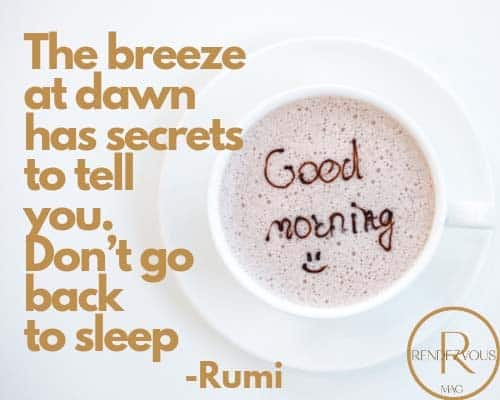 good morning messages rumi