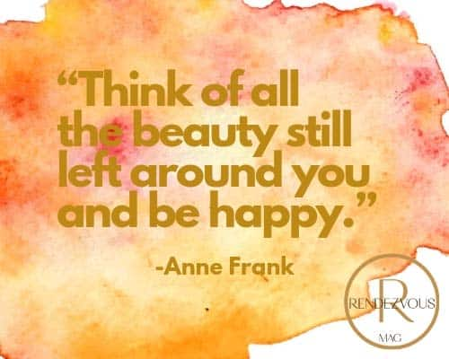 happy life quote anne frank pic