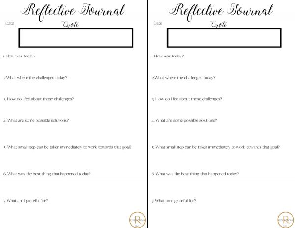 reflective journal free download