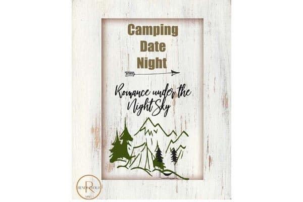 camping date night invite