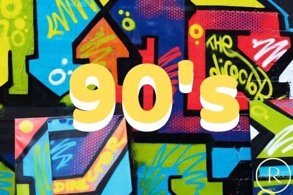 90's date ideas graffiti