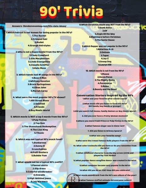90's trivia & conversation Starters download