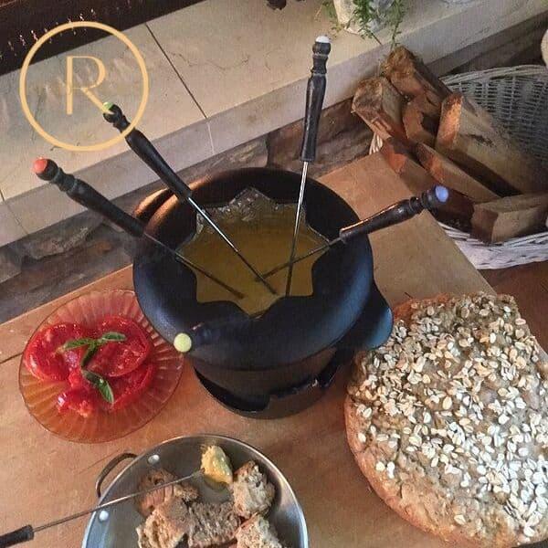 hygge fondue date night photo