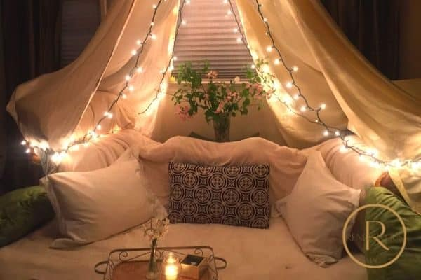 camping date night at home photo