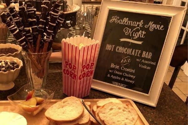girls night in -Hallmark movie night with bingo and a drinking game
