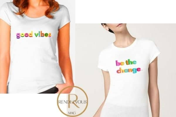 good vibes tee shirt design, be the change tee shirt designEmpowering gifts for the strong and badass women in your life,
