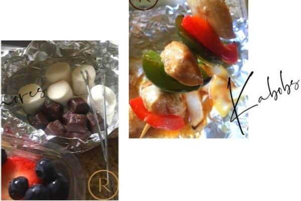 kebab & smores food for date night