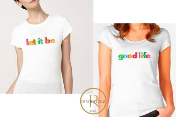 let it be t shirt design & good life tee shirt design,Empowering gifts for the strong and badass women in your life