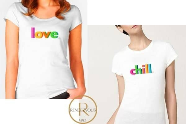 love tee shirt design and chill tee shirt design,Empowering gifts for the strong and badass women in your life