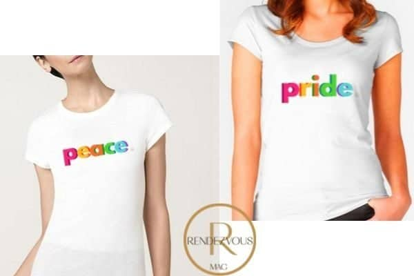 peace t shirt design and pride t shirt design