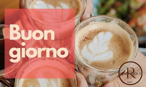 Buon giorno- good morning in Italian image