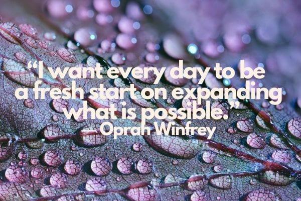 fresh start quotes Oprah Winfrey