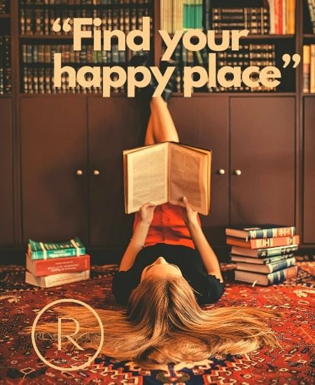 """""""Find your happy place"""" staying strong"""