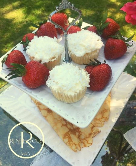 coconut cupcakes outdoor brunch for two