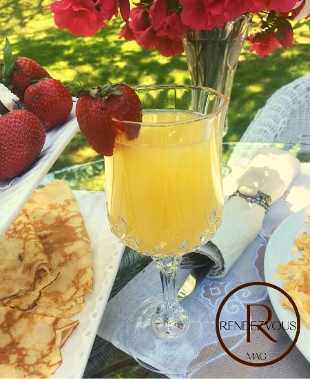 mimosa outdoor brunch for two