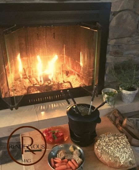 show love by having a romantic fondue dates