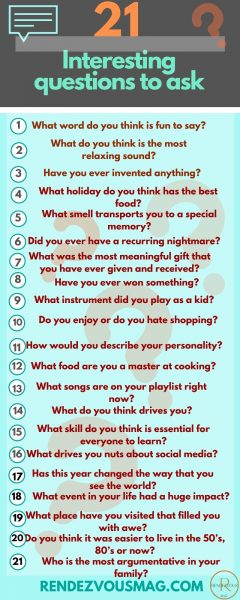 interesting questions to ask infographic